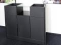 "Barschrank, Material: Arpa fenix schwarz matt, Türen mit ""Push to Open-Funktion"""